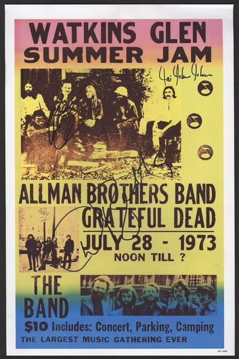 Lot Detail - The Allman Brothers Band Signed Poster