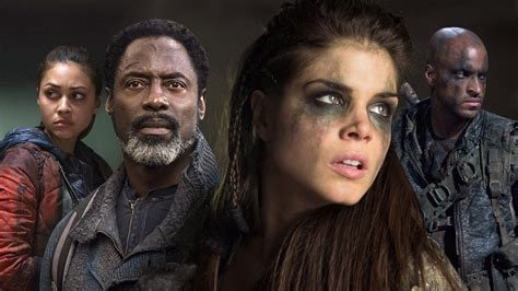 The 100: Lindsey Morgan, Marie Avgeropoulos, Ricky Whittle