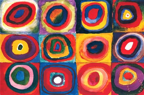Wassily Kandinsky Color Study of Squares painting - Color