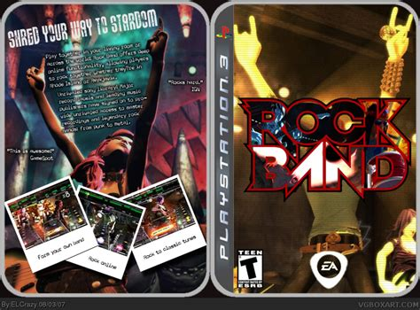 Rock Band PlayStation 3 Box Art Cover by ELCrazy