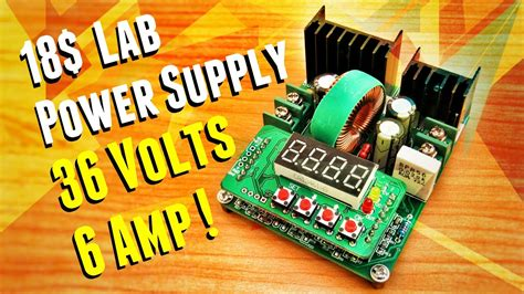 Build Variable Lab Bench Power Supply Module - YouTube