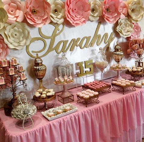 Pin by Geminis Guerrero on Dessert Tables | Sweet 16