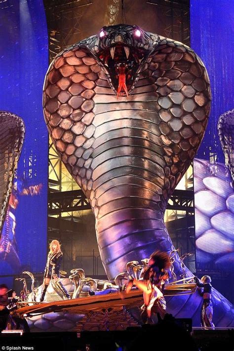 Taylor Swift performs with snake as she reignites Kim